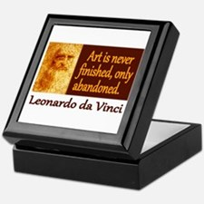 Da Vinci Quote Keepsake Box