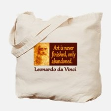 Da Vinci Quote Tote Bag