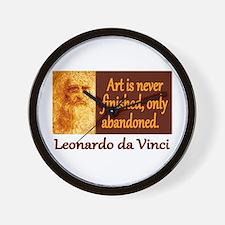 Da Vinci Quote Wall Clock