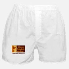 Da Vinci Quote Boxer Shorts