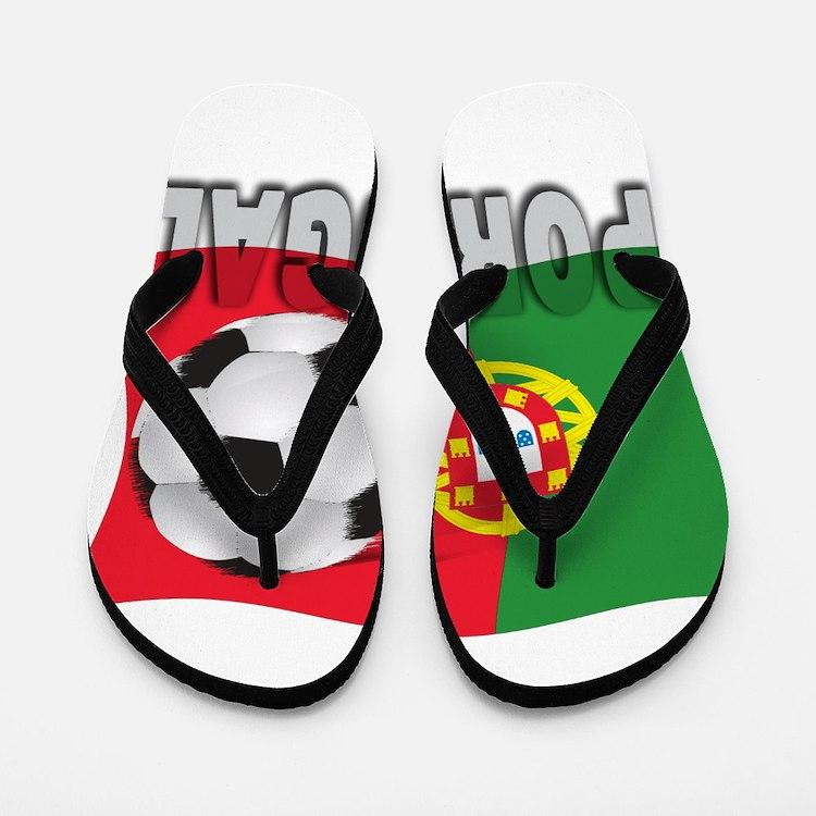 Portugal World Cup Soccer Flip Flops