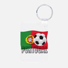 Portugal World Cup Soccer Aluminum Photo Keychain
