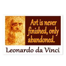 Da Vinci Quote Postcards (Package of 8)