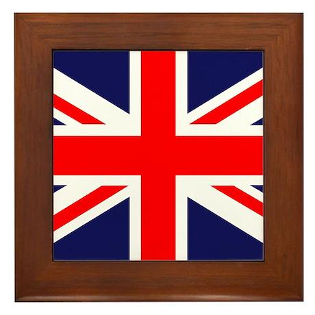British Flag Framed Tile
