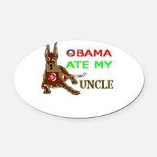 THE DOG EATER Oval Car Magnet