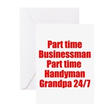 Grandpa 24/7 Greeting Cards (Pk of 10)