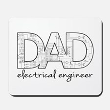 Father's Day.Dad electrical engineer. Mousepad