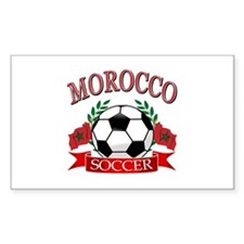 Morocco Football Decal