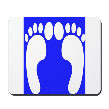ff foot blue.PNG Mousepad