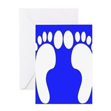 ff foot blue.PNG Greeting Card