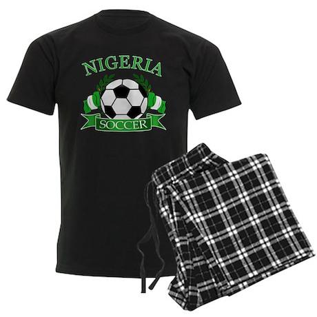 Nigeria Football Men's Dark Pajamas