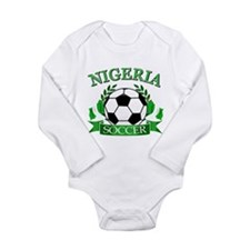 Nigeria Football Long Sleeve Infant Bodysuit