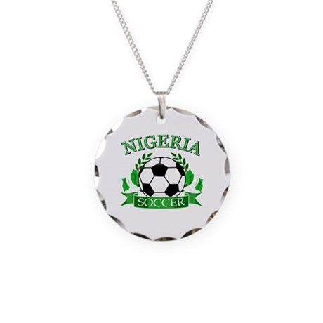 Nigeria Football Necklace Circle Charm