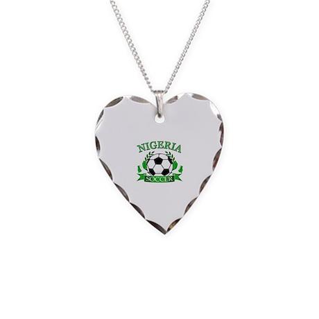Nigeria Football Necklace Heart Charm