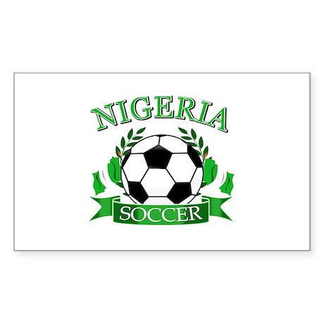 Nigeria Football Sticker (Rectangle)