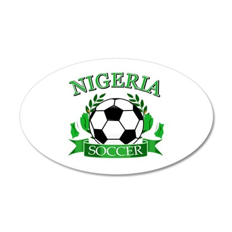 Nigeria Football 20x12 Oval Wall Decal