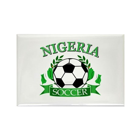 Nigeria Football Rectangle Magnet