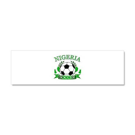 Nigeria Football Car Magnet 10 x 3
