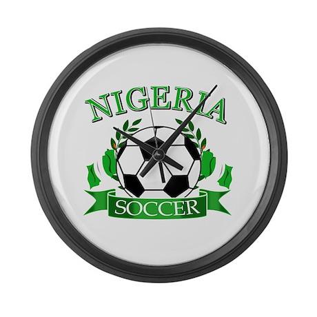 Nigeria Football Large Wall Clock