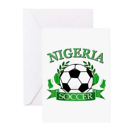 Nigeria Football Greeting Cards (Pk of 10)