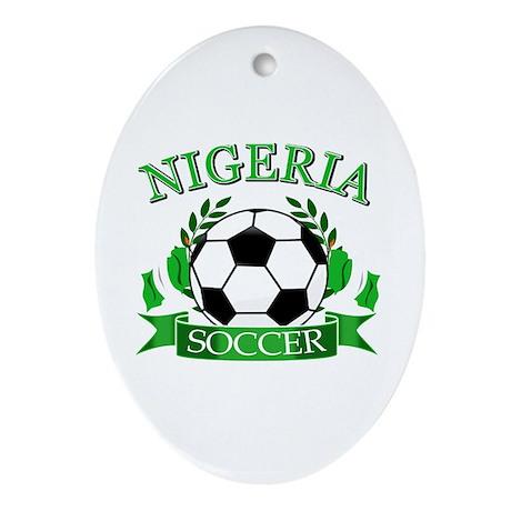 Nigeria Football Ornament (Oval)