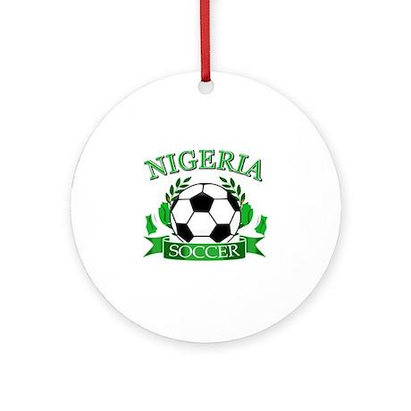 Nigeria Football Ornament (Round)