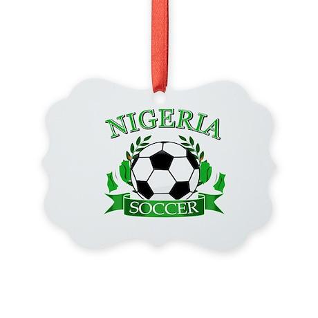 Nigeria Football Picture Ornament