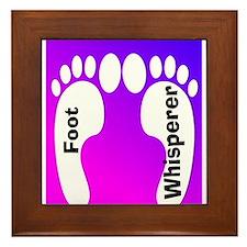 foot whisperer 2.PNG Framed Tile