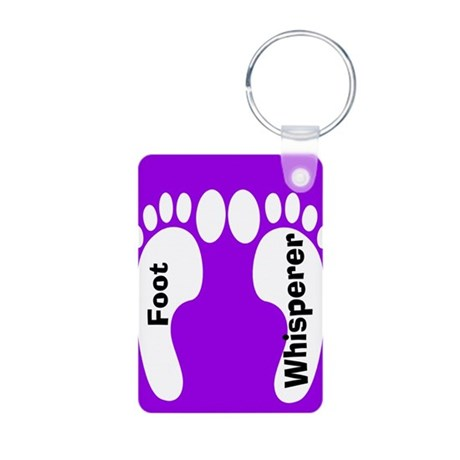 foot whisperer.PNG Aluminum Photo Keychain