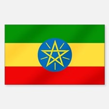 Ethiopian Flag Sticker (Rectangle)