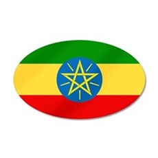 Ethiopian Flag 20x12 Oval Wall Decal