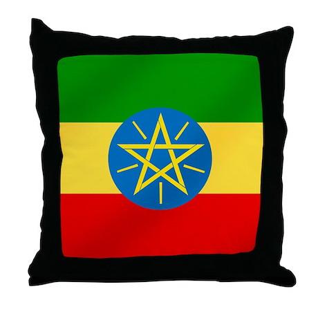 Ethiopian Flag Throw Pillow