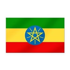 Ethiopian Flag Rectangle Car Magnet