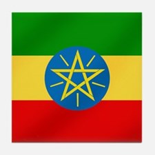 Ethiopian Flag Tile Coaster