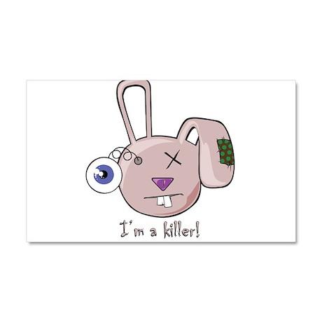 Ugly Mutt Im a killer rabbit pink Car Magnet 20 x