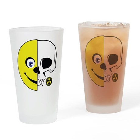 Smiley Face cut in Half - Skull cut in half Drinki