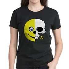 Smiley Face cut in Half - Skull cut in half Women'