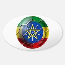 Ethiopia Football Sticker (Oval)