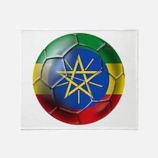 Ethiopia Football Throw Blanket