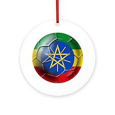 Ethiopia Football Ornament (Round)