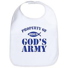 Jesus Gods Army logo Bib