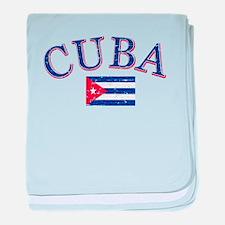 Cuba Football baby blanket