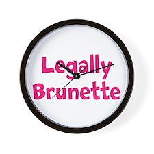 Legally Brunette Wall Clock