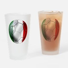 Italy Italia Football Drinking Glass