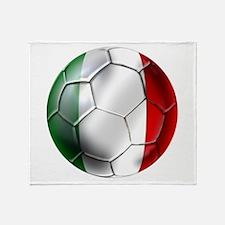 Italy Italia Football Throw Blanket