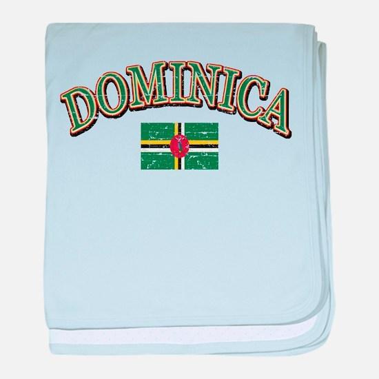 Dominica Football baby blanket