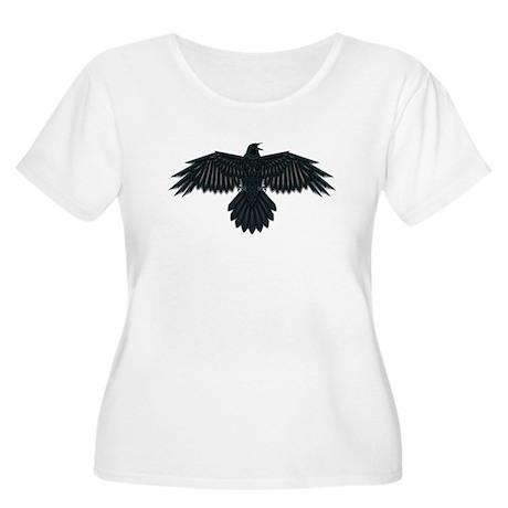Beadwork Crow or Raven Women's Plus Size Scoop Nec