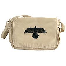 Beadwork Crow or Raven Messenger Bag