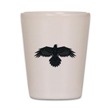 Beadwork Crow or Raven Shot Glass