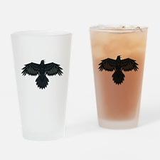 Beadwork Crow or Raven Drinking Glass